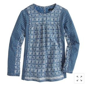 J. Crew Bleached-Out Indigo Top